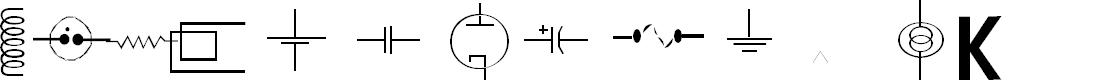 Preview image for vac tube symbols v1.2 Font