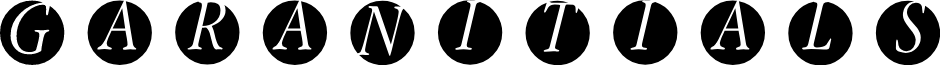 GaraNitials font
