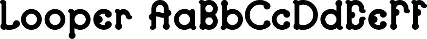Preview image for Looper Regular E. Font