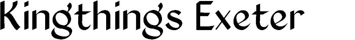 Preview image for Kingthings Exeter Font