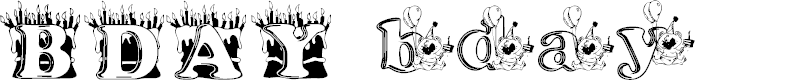 Preview image for kg bday1 Font