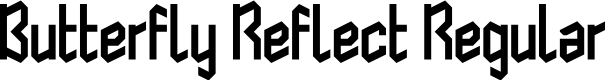 Preview image for Butterfly Reflect Regular Font