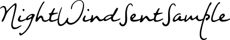 Preview image for NightWindSentSample Font