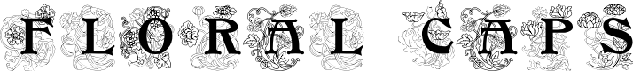 Preview image for FloralCapsNouveau Font