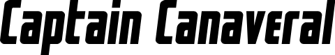 Preview image for Captain CanaveralSemi-Italic