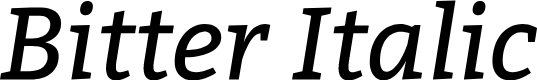 Preview image for Bitter Italic