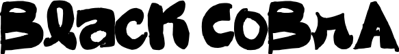 Preview image for Black CoBrA Font