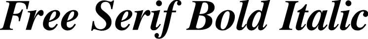 Preview image for Free Serif Bold Italic