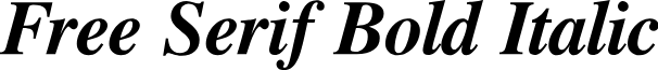 Free Serif Bold Italic
