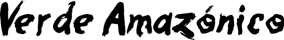 Preview image for Verde Amazónico Font