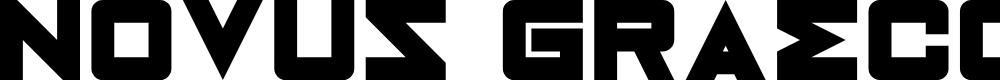 Preview image for Novus Graecorum Regular Font