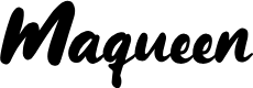 Preview image for Maqueen Font