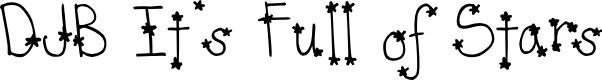 Preview image for DJB It's Full of Stars Font