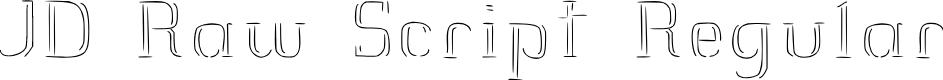 Preview image for JD Raw Script Regular Font