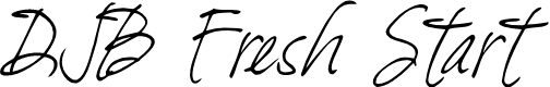 Preview image for DJB Fresh Start Font