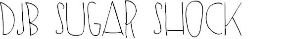 Preview image for DJB SUGAR SHOCK Font