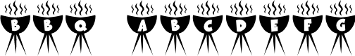 Preview image for KR BBQ Font
