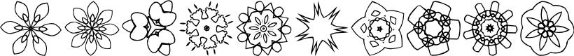 Preview image for JI Kaleidoscope Bats 3 Font
