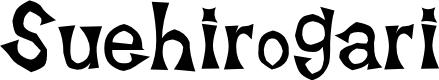 Preview image for Suehirogari Font