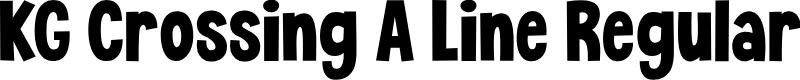 Preview image for KG Crossing A Line Regular Font