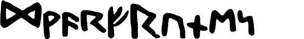 Preview image for DwarfRunes Font