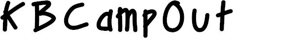 Preview image for KBCampOut Font
