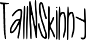 Preview image for Tall_N_Skinny Font