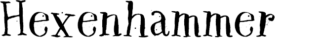 Preview image for DK Hexenhammer Regular Font
