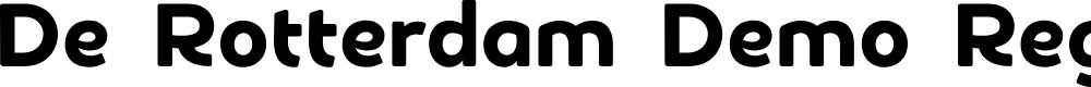Preview image for De Rotterdam Demo Regular Font