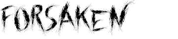 Preview image for Forsaken Font