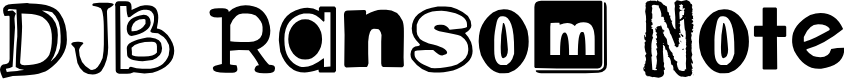 Preview image for DJB Ransom Note Font