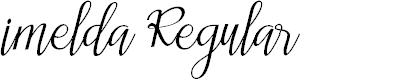 Preview image for imelda Regular Font