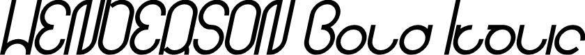 Preview image for HENDERSON Bold Italic