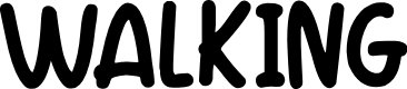 Preview image for Walking Font