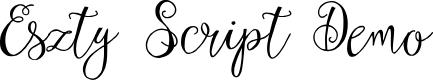 Preview image for Eszty Script Demo Font