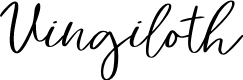 Preview image for Vingiloth Font