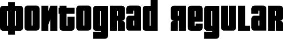 Preview image for Fontograd Regular Font