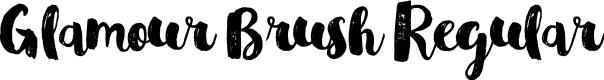Preview image for Glamour Brush Regular Font