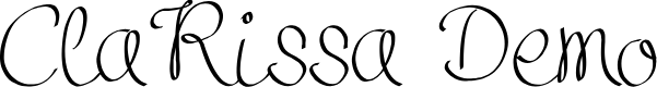 Preview image for Clarissa Demo Font