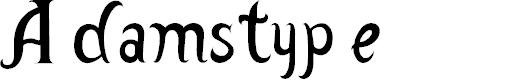 Preview image for Adamstype Font