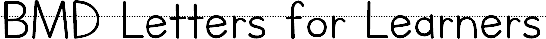 Preview image for BMD Letters for Learners Lined- Hatted J