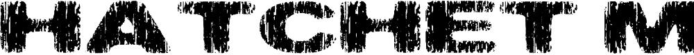 Preview image for Hatchet Man Font