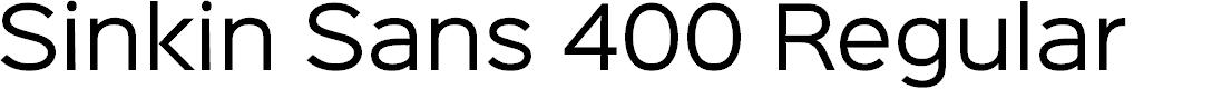 Preview image for Sinkin Sans 400 Regular