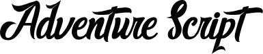 Preview image for AdventureScript Font