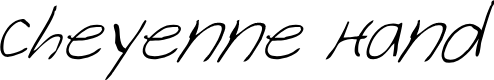 Preview image for Cheyenne Hand Italic