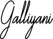 Preview image for Galliyani Font