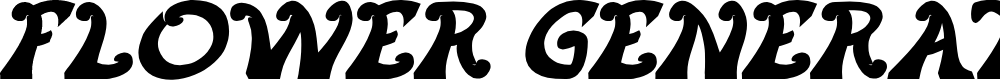 Preview image for FLOWER GENERATION Bold Italic