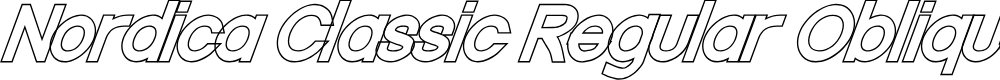 Preview image for Nordica Classic Regular Oblique Outline