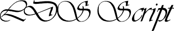 LDS Script Italic