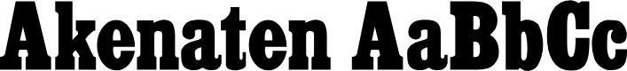 Preview image for Akenaten Normal Font